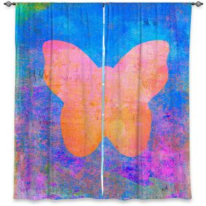 Decorative Window Treatments | China Carnella - Blue Butterfly | Silhouette outline nature insect