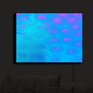Nightlight Sconce Canvas Light | China Carnella - Bluebell | Feathers Abstract