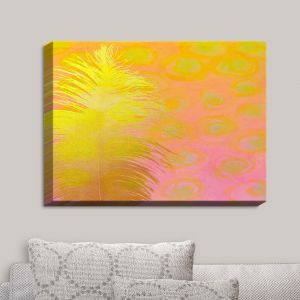 Decorative Canvas Wall Art   China Carnella - Carousel Ride   Feathers Abstract