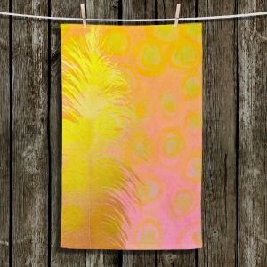 Unique Hanging Tea Towels   China Carnella - Carousel Ride   Feathers Abstract