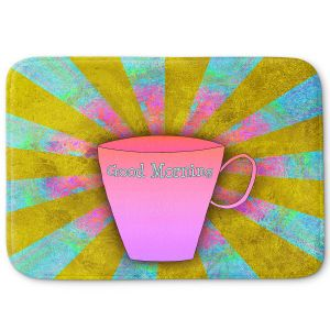 Decorative Bathroom Mats | China Carnella - Coffee Morning | cup outline quote