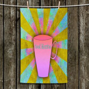 Unique Hanging Tea Towels | China Carnella - Coffee Morning | cup outline quote