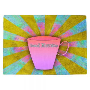 Countertop Place Mats | China Carnella - Coffee Morning | cup outline quote