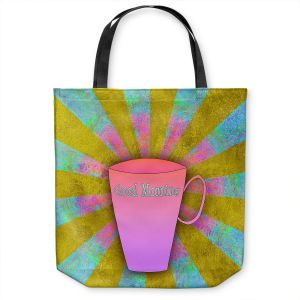 Unique Shoulder Bag Tote Bags | China Carnella - Coffee Morning | cup outline quote