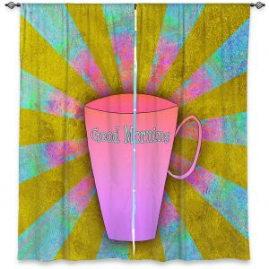 Decorative Window Treatments | China Carnella - Coffee Morning | cup outline quote