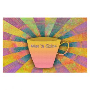 Decorative Floor Covering Mats | China Carnella - Coffee Rise n Shine | cup outline quote