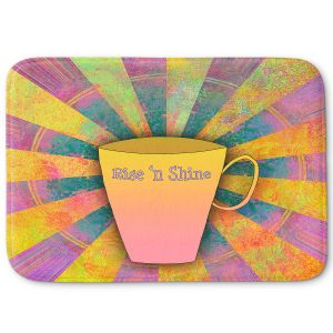Decorative Bathroom Mats   China Carnella - Coffee Rise n Shine   cup outline quote