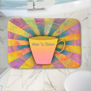 Decorative Bathroom Mats | China Carnella - Coffee Rise n Shine | cup outline quote