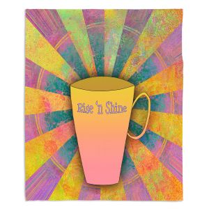 Decorative Fleece Throw Blankets | China Carnella - Coffee Rise n Shine | cup outline quote