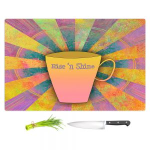 Artistic Kitchen Bar Cutting Boards | China Carnella - Coffee Rise n Shine | cup outline quote