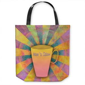 Unique Shoulder Bag Tote Bags | China Carnella - Coffee Rise n Shine | cup outline quote