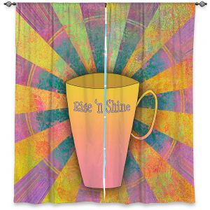 Decorative Window Treatments | China Carnella - Coffee Rise n Shine | cup outline quote
