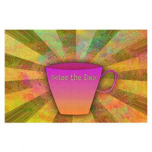 Decorative Floor Covering Mats | China Carnella - Coffee Seize the Day | cup outline quote