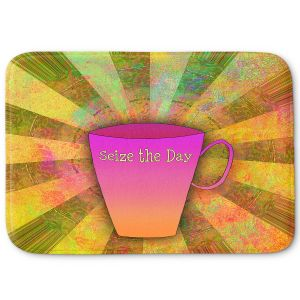 Decorative Bathroom Mats   China Carnella - Coffee Seize the Day   cup outline quote