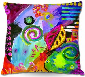 Unique Outdoor Pillow 18X18 from DiaNoche Designs by China Carnella - Crazy Abstract II