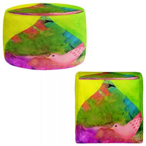 Round and Square Ottoman Foot Stools | China Carnella - Flight of Love Bird