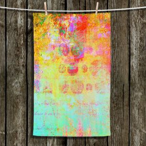 Unique Hanging Tea Towels | China Carnella - Hybrid Ocean | Abstract Colorful