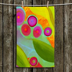 Unique Hanging Tea Towels | China Carnella - Jacaranda | Abstract Colorful