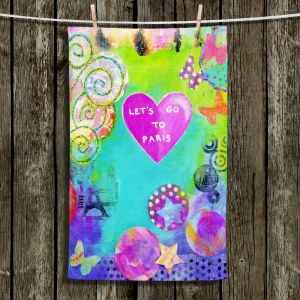 Unique Hanging Tea Towels | China Carnella - Lets Go To Paris | Abstract Colorful