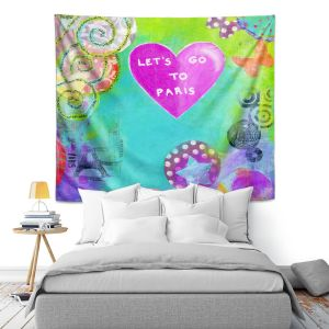 Artistic Wall Tapestry | China Carnella Lets Go Paris