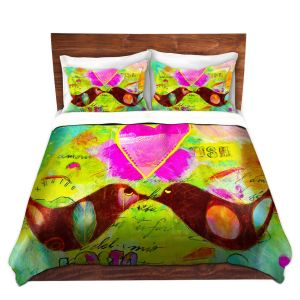 Artistic Duvet Covers and Shams Bedding   China Carnella - Love Birds