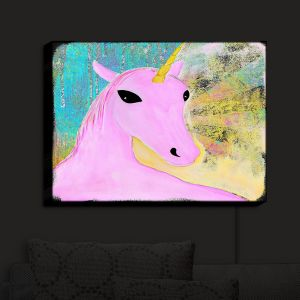 Nightlight Sconce Canvas Light   China Carnella - Pink Unicorn   Fantasy Make Believe