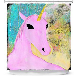 Premium Shower Curtains | China Carnella - Pink Unicorn
