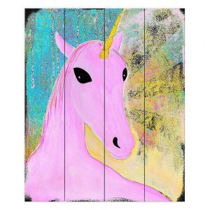 Decorative Wood Plank Wall Art | China Carnella - Pink Unicorn