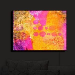 Nightlight Sconce Canvas Light | China Carnella - Pink FIre | abstract pattern