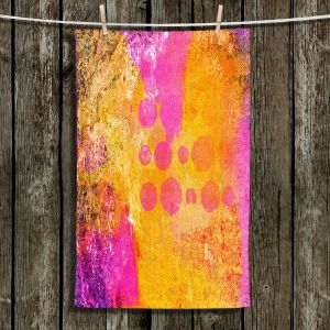 Unique Hanging Tea Towels | China Carnella - Pink FIre | abstract pattern