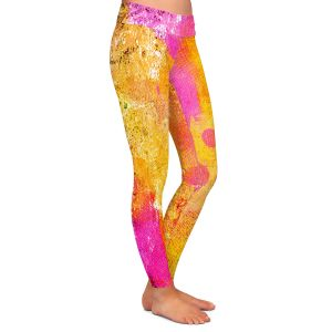 Casual Comfortable Leggings | China Carnella - Pink FIre | abstract pattern
