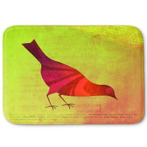 Decorative Bathroom Mats | China Carnella - Red Bird | silhoutte outline nature