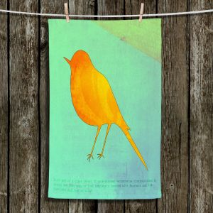 Unique Bathroom Towels | China Carnella - Yellow Bird | silhoutte outline nature