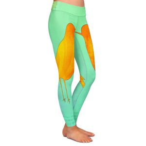Casual Comfortable Leggings | China Carnella - Yellow Bird | silhoutte outline nature