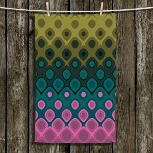 Unique Hanging Tea Towels | Christy Leigh - Charm | Abstract Stylized Colorful