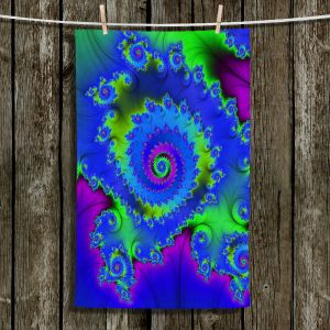 Unique Hanging Tea Towels   Christy Leigh - Cheerful   Abstract Stylized Colorful