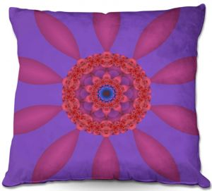 Unique Outdoor Pillows from DiaNoche Designs by Christy Leigh - Divine Flower
