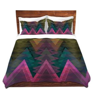 Unique Duvet Microfiber Queen SET from DiaNoche Designs by Christy Leigh - Entrancement