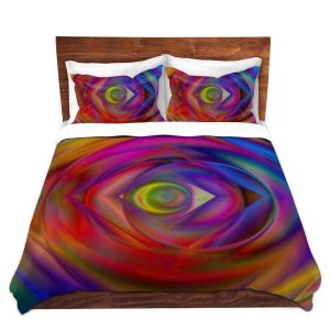Artistic Duvet Covers and Shams Bedding | Christy Leigh - Geometric Coloration