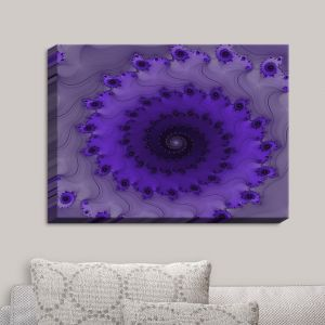 Decorative Canvas Wall Art | Christy Leigh - Infinity Purple II | Spiral