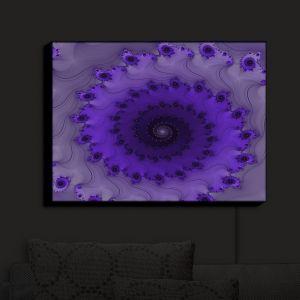 Nightlight Sconce Canvas Light | Christy Leigh - Infinity Purple II | Spiral