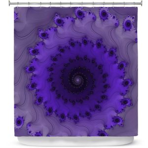 Premium Shower Curtains | Christy Leigh - Infinity Purple II