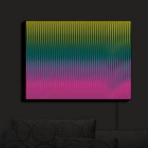 Nightlight Sconce Canvas Light | Christy Leigh - Magnetizing | Abstract Stylized Colorful