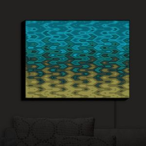 Nightlight Sconce Canvas Light | Christy Leigh - New Direction | Abstract Stylized Colorful
