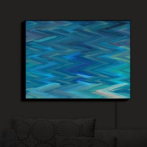 Nightlight Sconce Canvas Light | Christy Leigh - Serenic Echo | Abstract Stylized Colorful