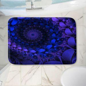Decorative Bathroom Mats | Christy Leigh - Spirling Winds II | Abstract Spiral Fractal