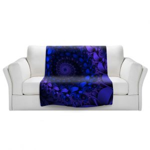 Artistic Sherpa Pile Blankets   Christy Leigh - Spirling Winds II   Abstract Spiral Fractal