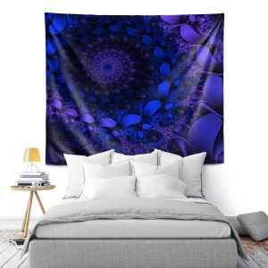 Artistic Wall Tapestry | Christy Leigh - Spirling Winds II | Abstract Spiral Fractal