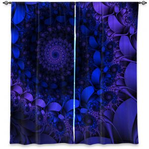Decorative Window Treatments   Christy Leigh - Spirling Winds II   Abstract Spiral Fractal