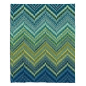 Artistic Sherpa Pile Blankets | Christy Leigh - Teling Zig Zag